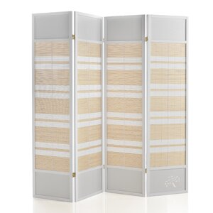 180cm x 176cm Wooden Screen 4 Panel Room Divider