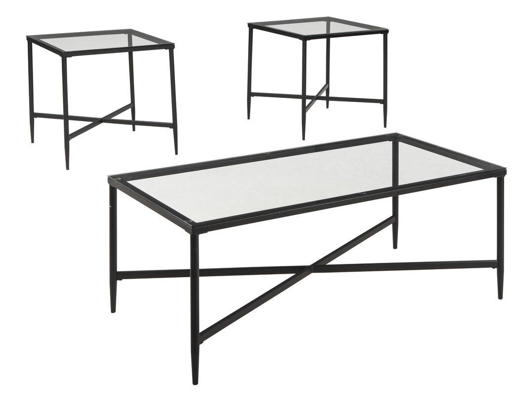 Zipcode Design Melanie 3 Piece Coffee Table Set & Reviews | Wayfair