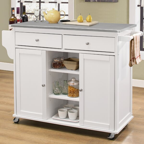 Cocina Kitchen Cart With Stainless Steel Top: Alcott Hill Brecht Kitchen Cart With Stainless Steel Top