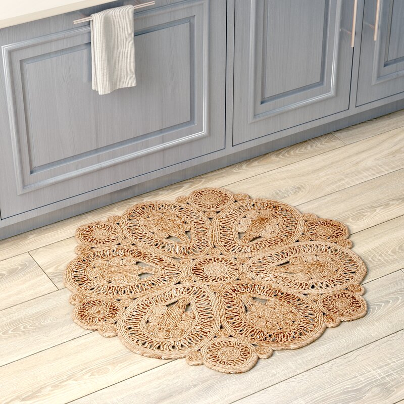 Amberboi Fiber Hand-Woven Natural Area Rug