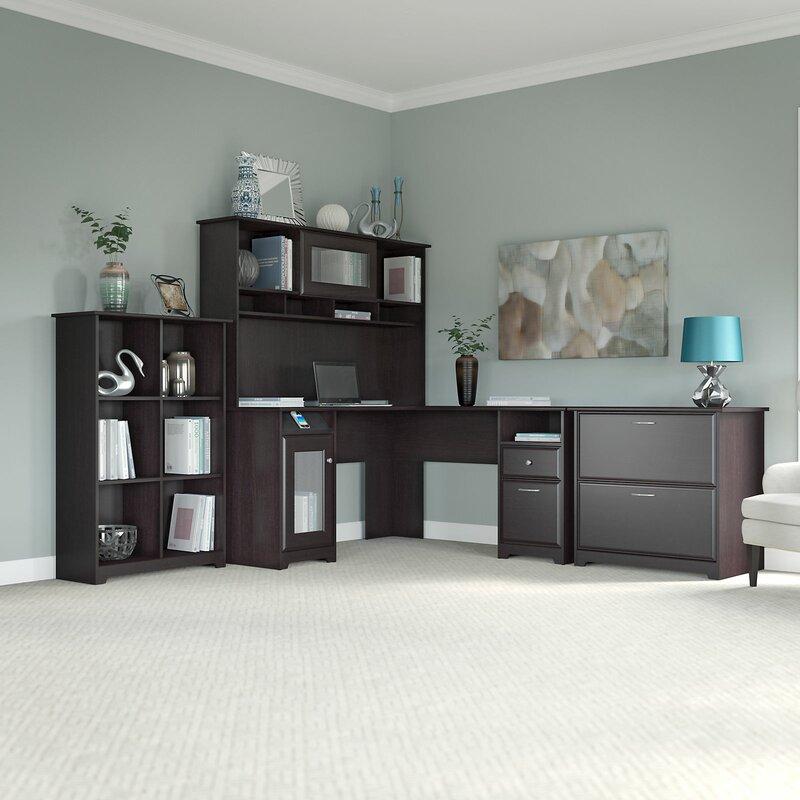 Hillsdale L Shape Executive Desk Office Suite