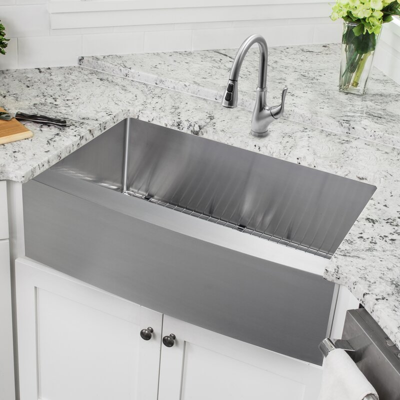 Ssapsblp7636 36 L X 20 75 W A Front Single Bowl Stainless Steel Kitchen Sink With Faucet
