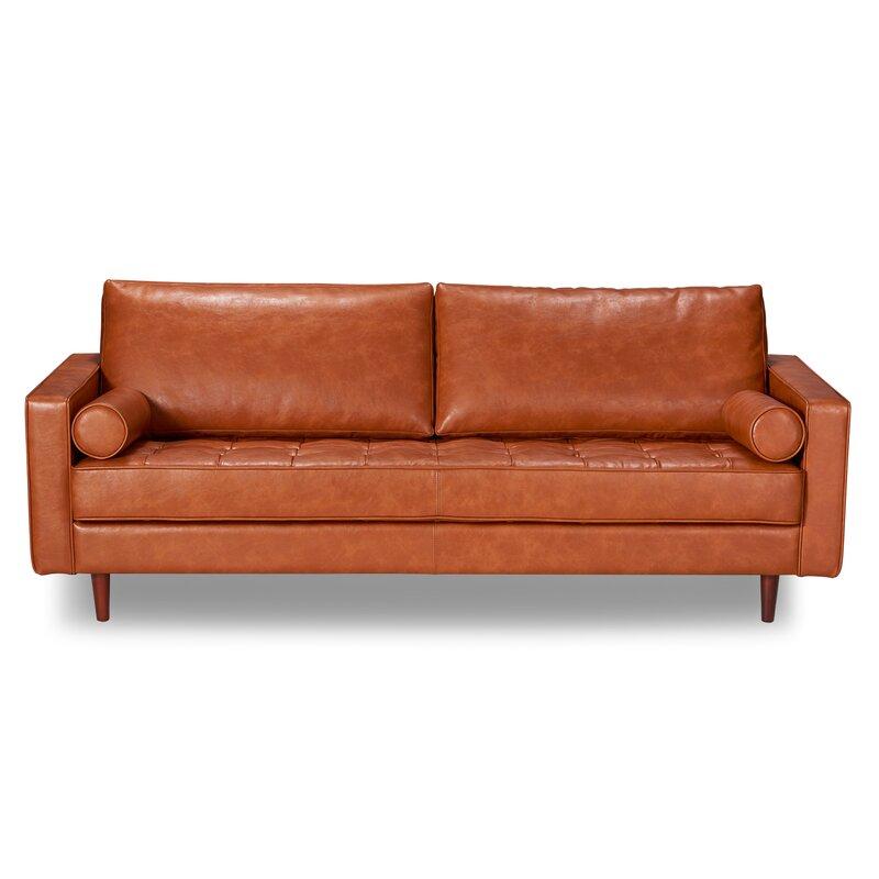 Trent Austin Design Bombay Leather Sofa Amp Reviews Wayfair