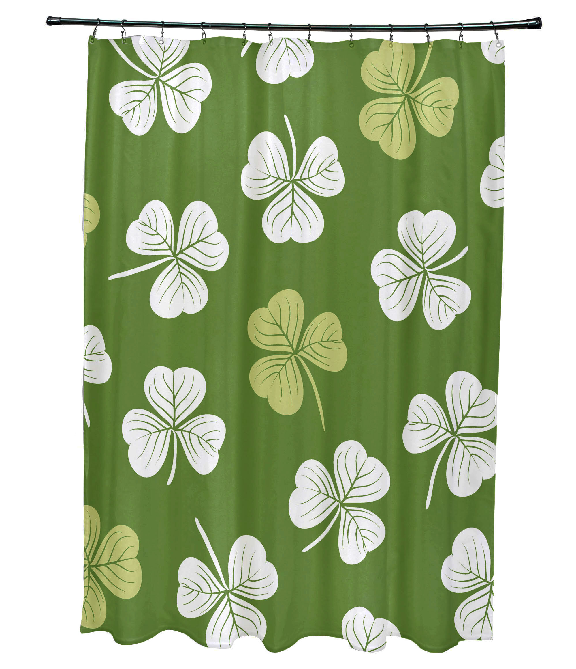 The Holiday Aisle Funky Junky Lucky Single Shower Curtain