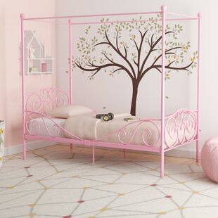 Twin Canopy Bed For Girls Wayfair