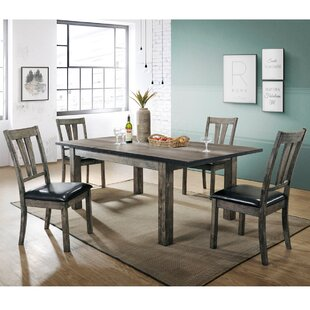 Wimbish 5 Piece Wood Dining Set