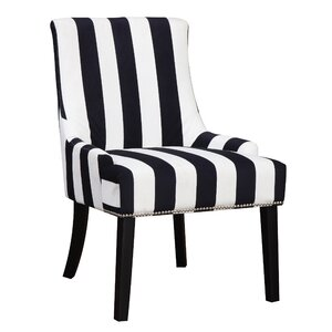 Aicha Stripe Wingback Chair