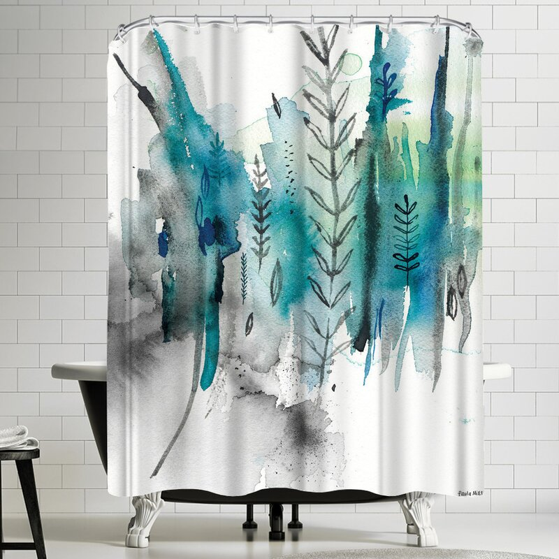 Paula Mills Nature In Blue No 2 Shower Curtain