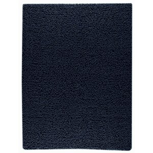 Square Hand-Woven Navy Blue Area Rug