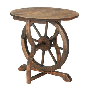 Wagon Wheel End Table