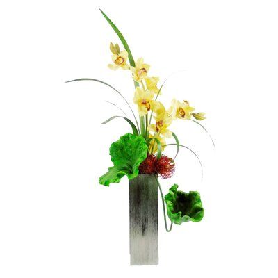 Creative Branch Gracing A Stately Cymbidium Orchids Floral