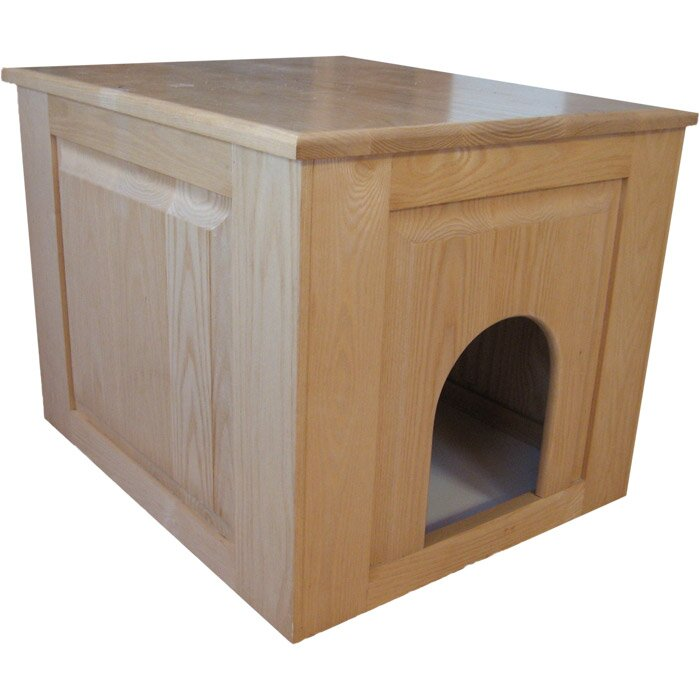 Good Raised Panel Litter Box Concealment Cabinet