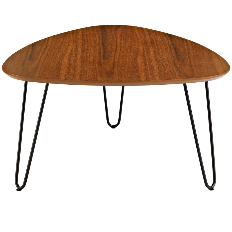 wrought studio bisson hairpin leg wood coffee table reviews. Black Bedroom Furniture Sets. Home Design Ideas