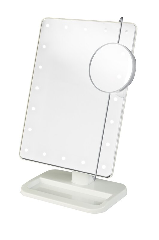 Rebrilliant Portable Led Lighted Rectangle Tabletop Makeup