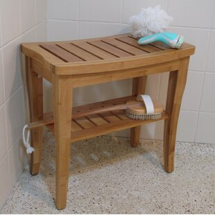 Charming Champaign Bamboo Entryway Bench