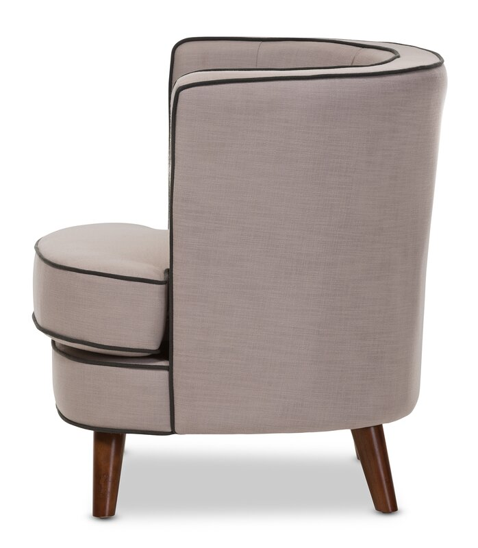 Baxton Studio Michele Upholstered Barrel Chair