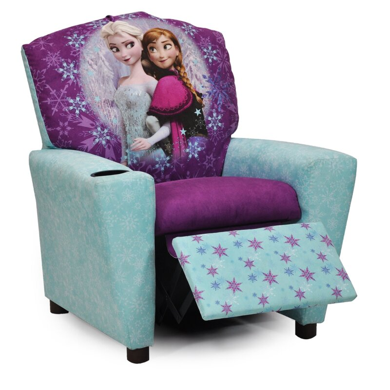 Disneyu0027s  Frozen  Kids Recliner Chair ...  sc 1 st  Wayfair & KidzWorld Disneyu0027s