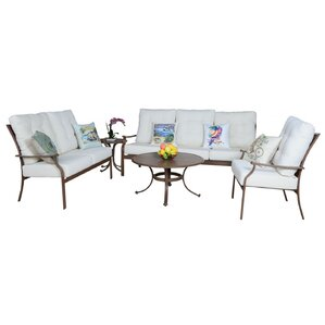 Island Breeze 5 Piece Deep Seating Chair Set With Cushion