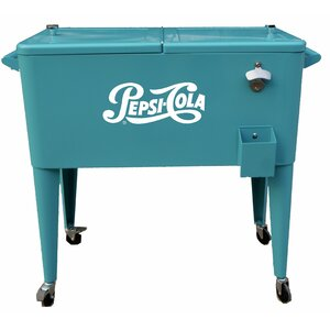 80 Qt. Pepsi Patio Rolling Cooler