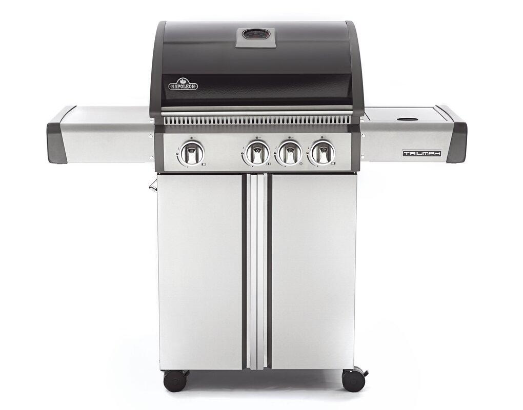 napoleon triumph 4 burner propane gas grill with cabinet u0026 reviews