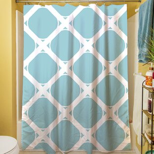 539e73cc0bc Modern Geometric Robin Egg Shower Curtain