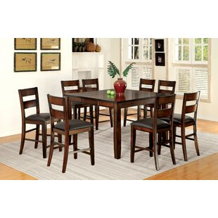 Maliana 9 Piece Counter Height Extendable Dining Set