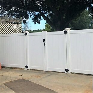 Outdoor White Fence Gate | Wayfair