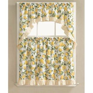 R Lemon Fest Kitchen Curtain Set Of 3