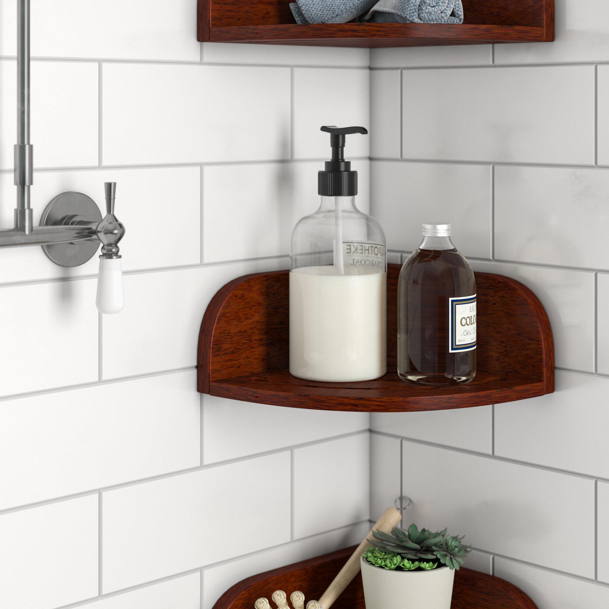Rebrilliant Teak Shower Shelf Reviews Wayfair