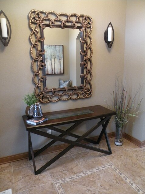 Wayfair table  mirror Entrée de style traditionnel
