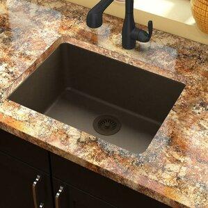 Undermount Kitchen Sink With Drainer granite kitchen sinks you'll love | wayfair