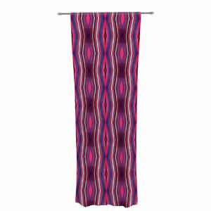 Miranda Mol Watercolor Zigzag Pattern Geometric Sheer Rod Pocket Curtain Panels Panels (Set of 2)