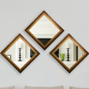 Set Of 3 Wall Mirrors Wayfair