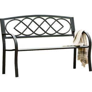 celtic knot iron garden bench