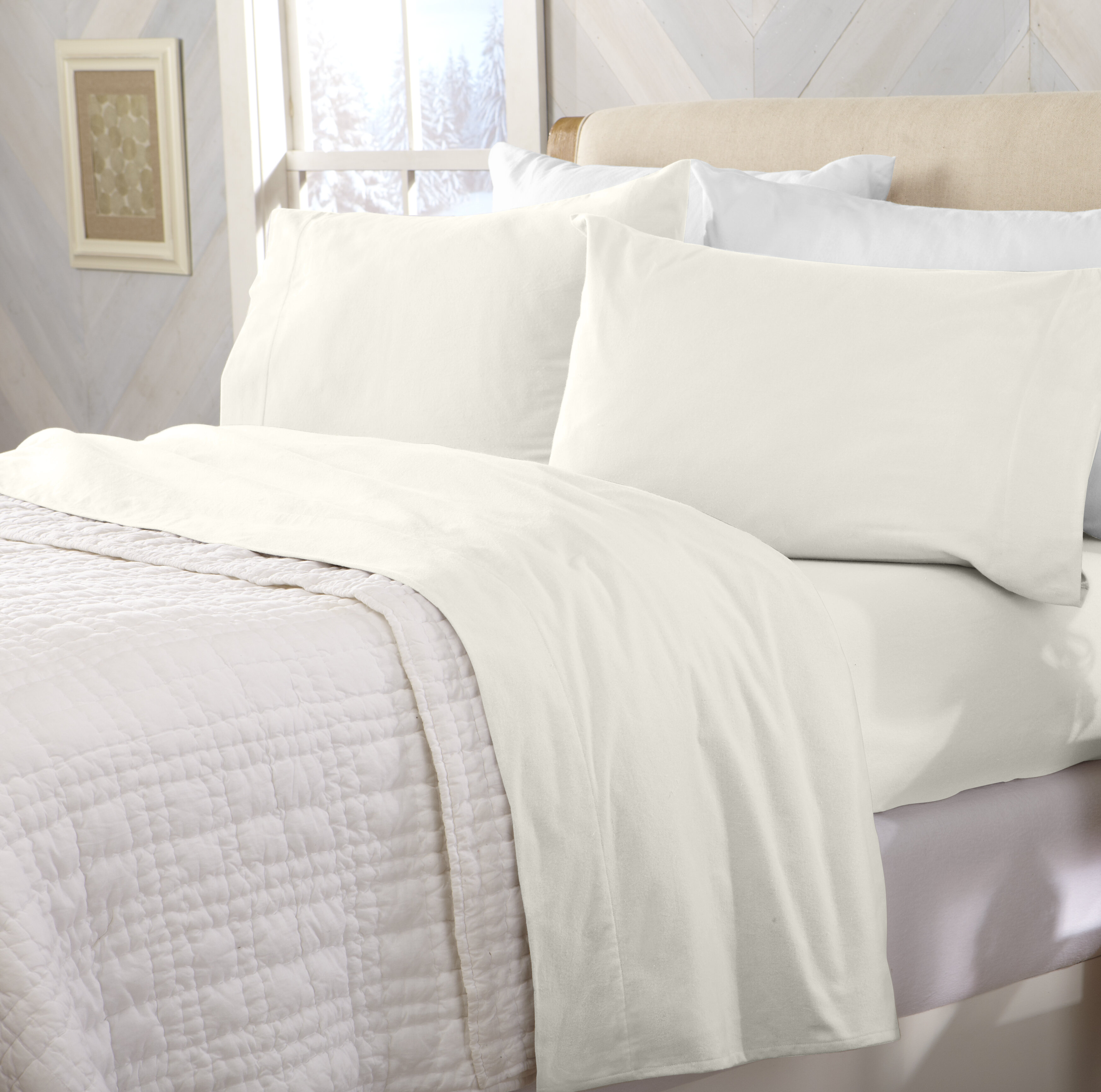 Peter Super Soft Solid Flannel 100 Turkish Cotton Sheet Set Reviews Allmodern