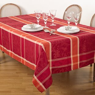 Pumpkin Plaid Tablecloth