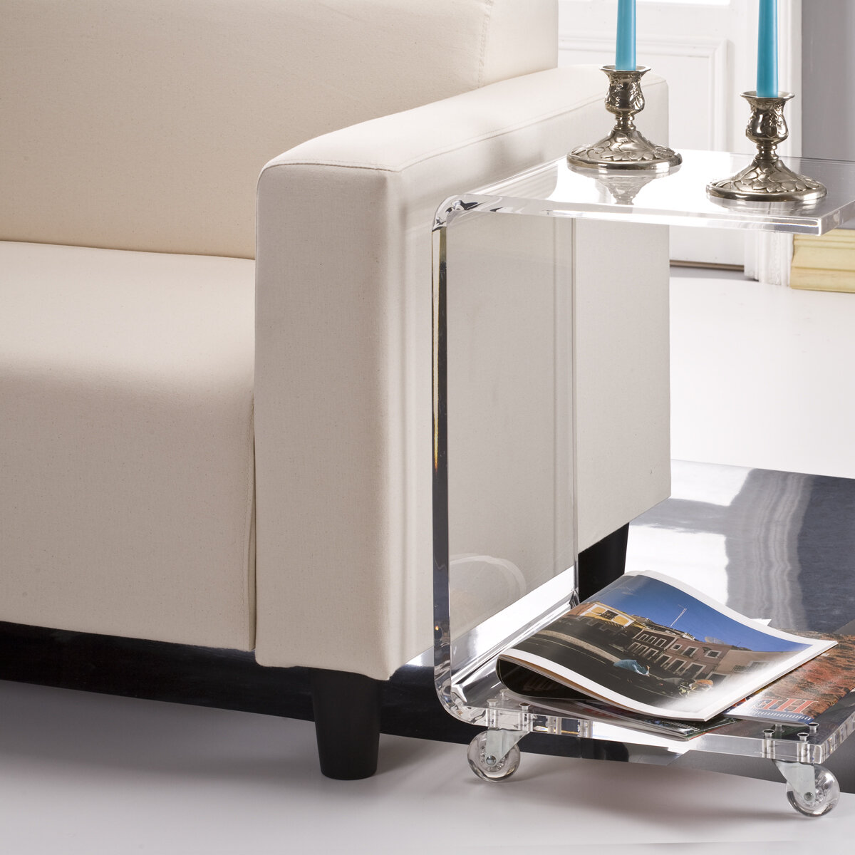 Latitude Run Brozany Half End Table U0026 Reviews | Wayfair