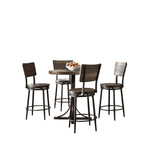 Putney 5 Piece Counter Height Breakfast Nook Dining Set Best #1