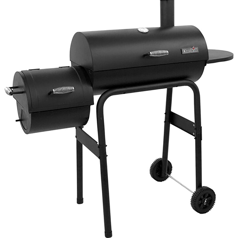 charbroil 22 300 series american gourmet offset charcoal grill with smoker reviews wayfair. Black Bedroom Furniture Sets. Home Design Ideas