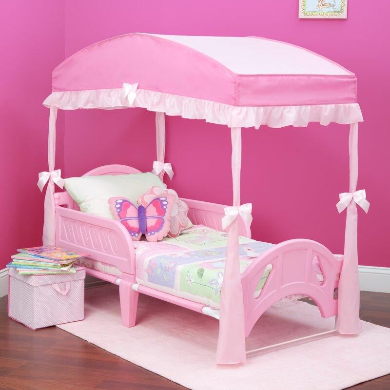 Childrenu0027s Girls Canopy for Toddler Bed & Delta Children Childrenu0027s Girls Canopy for Toddler Bed u0026 Reviews ...