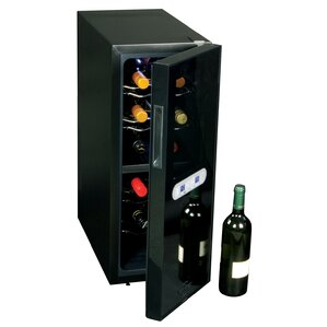12 Bottle Dual Zone Freestanding Wine Cooler by Koolatron