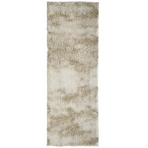 Moonlight Path Hand-Tufted Beige Area Rug