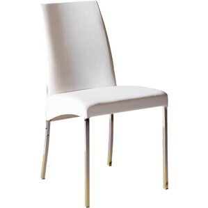 Elias Genuine Leather Upholstered Dining Chair by Bontempi Casa