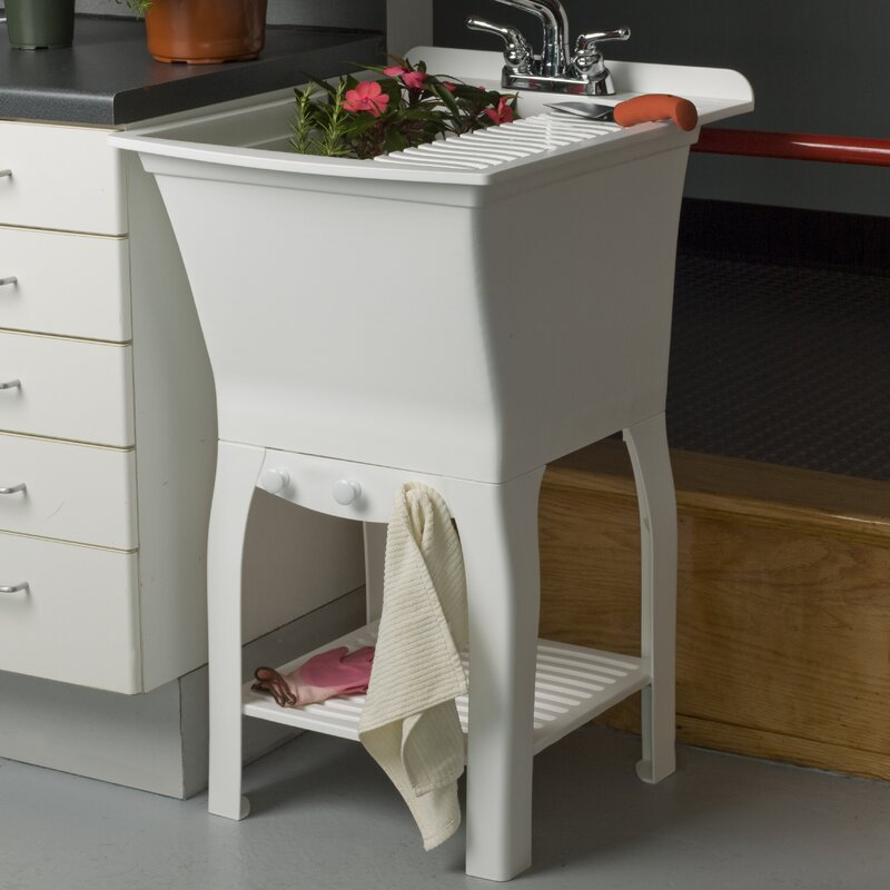 "Utility Sinks For Laundry Room: Cashel Fitz Workstation 20.5"" X 25.75"" Freestanding"