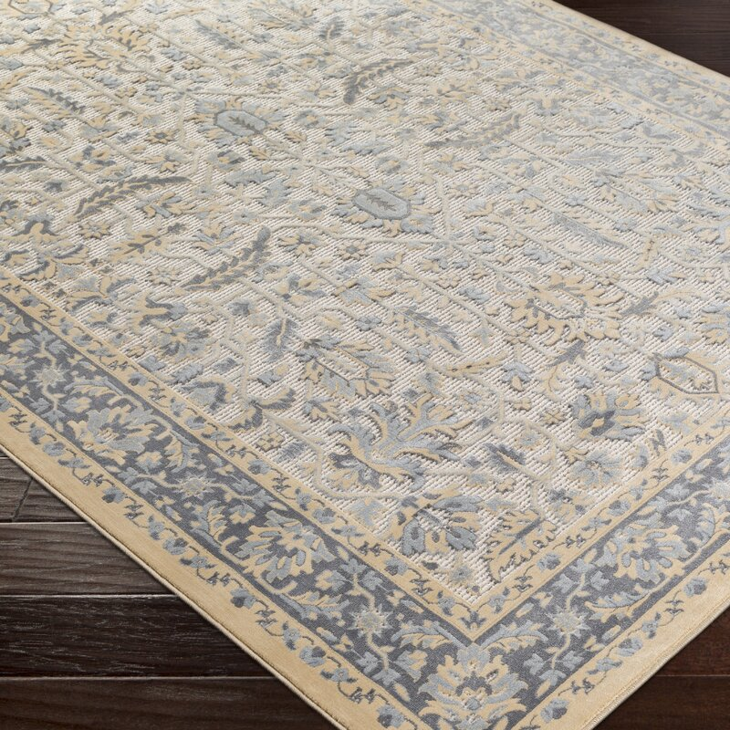 Brooks Farm Blue/Yellow Area Rug