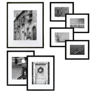 Drexil 7 Piece Wood Matted Picture Frame Set