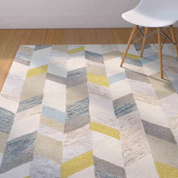 Langley Street Christine Hand Tufted Gray Gold Area Rug