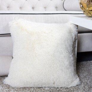white fluffy throw pillow | wayfair White Fluffy Throw Pillows