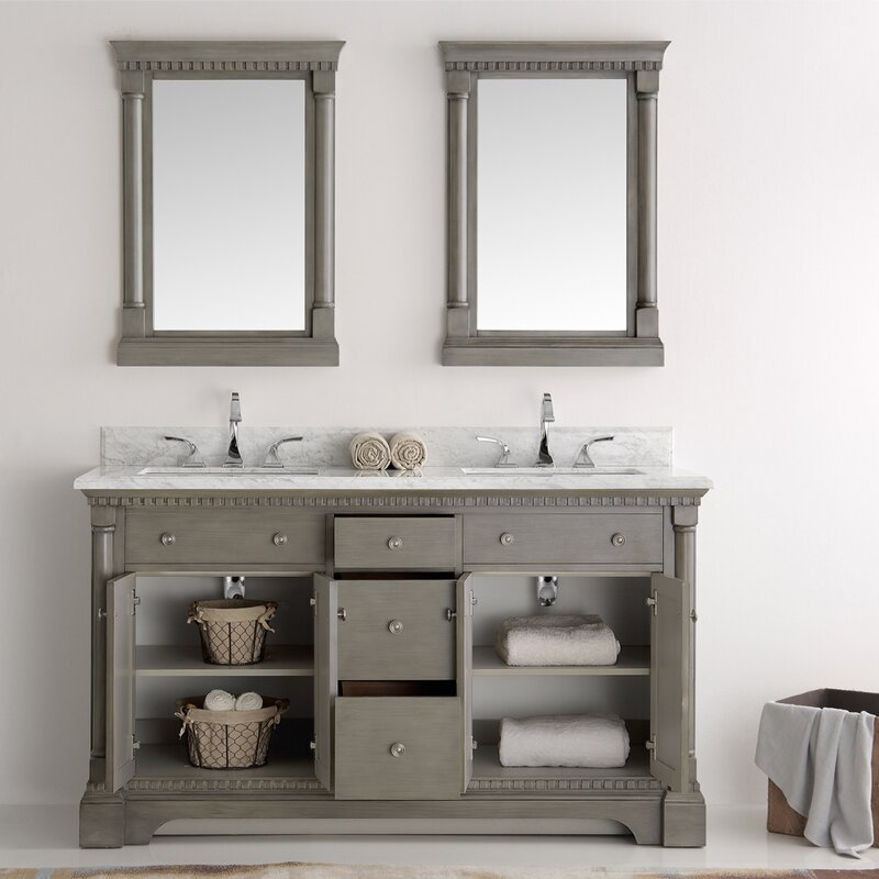60 In Double Sink Bathroom Vanity. Kingston 60  Double Sink Bathroom Vanity with Mirror Fresca