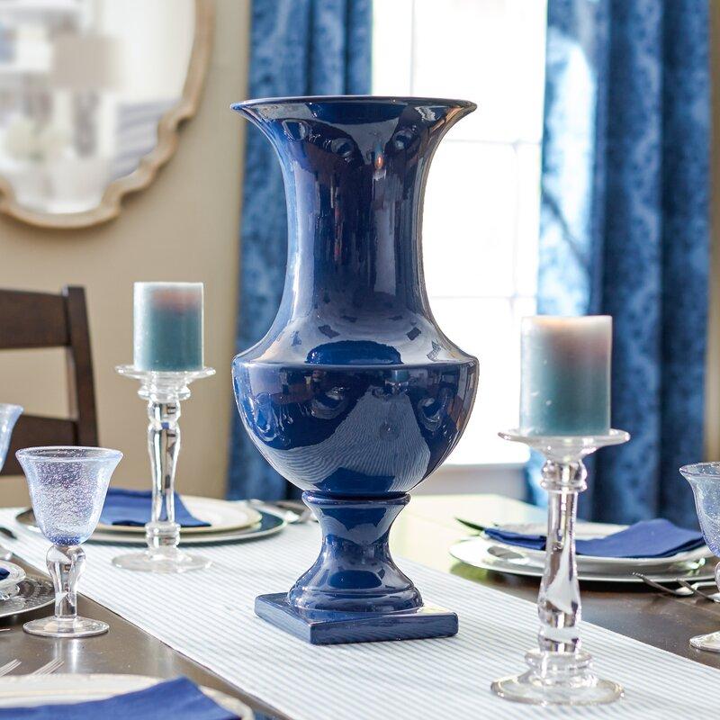 Three Posts Sigmon Ceramic Urn Table Vase Amp Reviews Wayfair